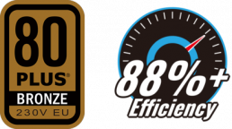 80 PLUS BRONZE EFFICIENCY 88